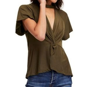 Free People Womens Just A Twist Top